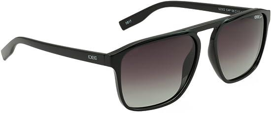 IDEE Polarized Square Unisex Sunglasses - (IDS2302C4PSG|58|Smoke Gradient Color)