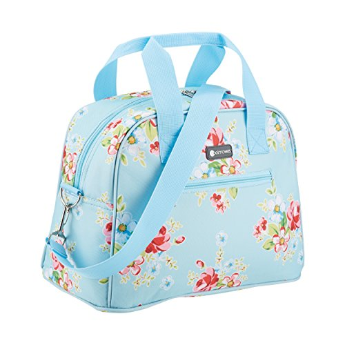 Coolmovers kitchencraft we love summer, borsa termica da viaggio con foglie tropicali multi-colour