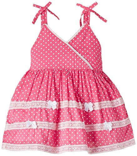 Cupcake Baby Girls' Dress (M3-9-2445_Coral_24 months)