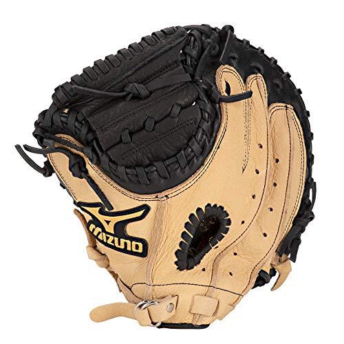 Mizuno Prospect GXC105Jugend Catcher 's Mitt, Herren, 311667.F981.21.3250, Schwarz/Braun, 32.5 inches -