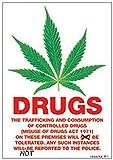 Dope - Drugs Notice - Fun-Poster Haschisch Cannabis Hanf Gras Marijuana - Grösse 61x91,5 cm + 1 Ü-Poster der Grösse 61x91,5cm
