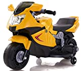 Toy House Kid's Mini Ninja Superbike Rechargeable Battery Operated Ride-on - Yellow