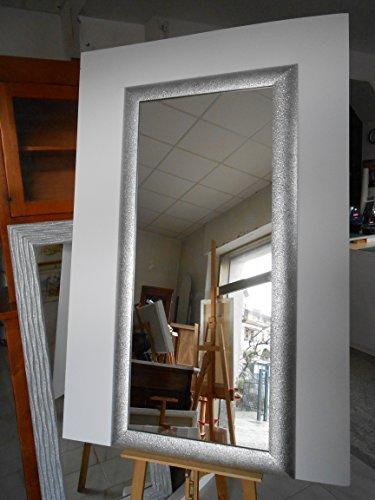 Specchio parete specchiera cornice foglia argento glitter for Parete bianca con glitter argento