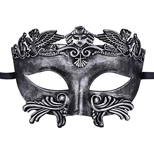 Kostüm Griechisch Ägyptische Römischen - ZYABCDG Vintage ägyptische Herren Maske gedruckt Maskerade halbes Gesicht antiken griechischen und römischen Stil venezianischen Maske für Party,2