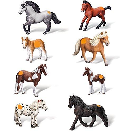 Ravensburger tiptoi 8-teiliges Komplettset Pferdefiguren: Barockpinto Stute + Fohlen + Friesen...
