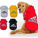 KayMayn Sport Adidog Hunde-Hoodie für Haustiere, Hunde, Welpen, Katzen-T-Shirt Kleidung Mantel Hoodie Pullover Kleidung, große und kleine Größe (S bis 9x l), 6Farben