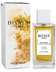 DIVAIN-059 / Similaire à Amor Amor Tentation de Cacharel / Eau de parfum pour femme, vaporisateur 100 ml