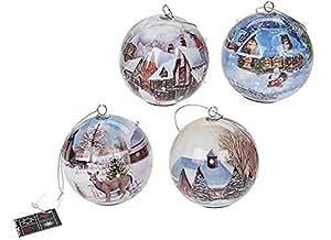 Disney weihnachtskugeln 80 mm 4 st ck design schneewittchen blinkend - Disney weihnachtskugeln ...