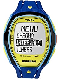 Timex Mens iron man INDIGLO alarme élégant chronographe bleu jaune TW5M00900