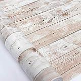 Hode Papier Adhesif pour Meuble d'étagère Liner Collant Retour Papier Peint en Plastique pour Rouleau Adhesif Effet Bois 45X300cm...