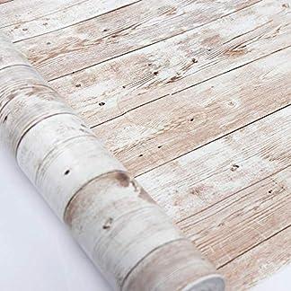 Hode Vinilos Decorativos Actualización Grano Madera Vinilo Texturizada Etiqueta Autoadhesiva Liner Respaldo Pegajoso Rollo Papel Tapiz para Puerta Cocina Bañ Papel Adhesivo para Muebles
