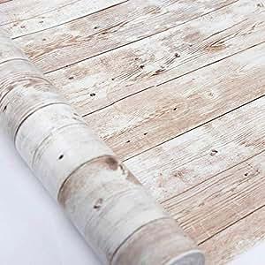 Hode Carta Adesiva per Mobili Legno 45cmX300cm Aggiornamento Grain Wood  Textured Vinyl Film Adesivo Autoadesivo Shelf Liner Sticky Back Plastic  Roll ...