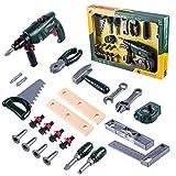 Tosbess Workbench Werkzeugset Kinder Spielwerkzeug Sets für Pädagogisches Spielen - Beste Werkzeuge Kit Bank für Kleinkinder, Kinder, Jungs und Mädchen im Alter von 3 - 12 Jahren