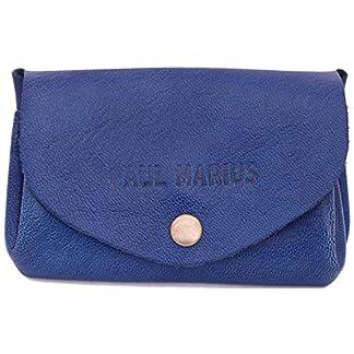 LE GUSTAVE cartera de cuero, monedero estilo vintage azul eléctrico PAUL MARIUS