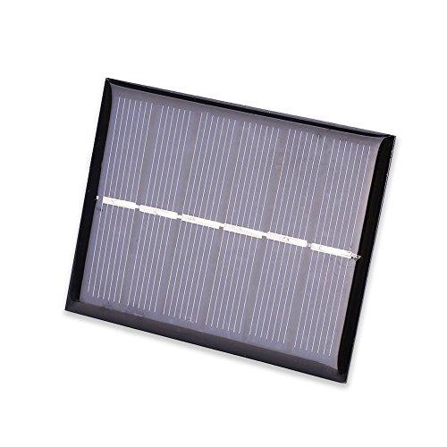 Especificación:  Color: negro  Material: paneles solares de silicio policristalino  Tensión de salida: DC3V  Potencia: 0,6 W  Propósito: energía solar en electricidad  Alcance: general  Tamaño del producto: 7,5 x 0,3 x 6 cm  Lista de embalaje:  1 x ...