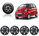 #10: Autopearl Car Wheel Cover Caps 12 Inches Press Type Fitting For - Tata Nano GenX (Black)