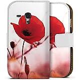 Samsung Galaxy S3 mini Tasche Hülle Flip Case Mohnblume Blüten Klatschmohn
