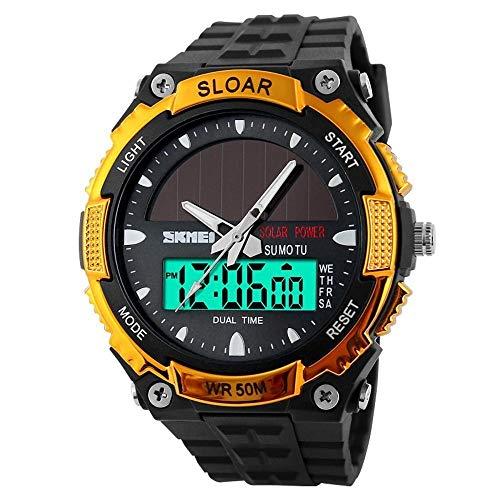 ChengHui Herren Mode solar elektronische Armbanduhr wasserdicht Dual-Maschine Outdoor-Trend männliche Sportuhr Schüler Watch