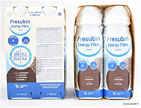 8x 200ml Fresubin Energy Fibre DRINK Schokolade - im exclusiven ConsuMed Bundle