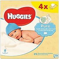 Pur Huggies Lingettes pour bébés 4 x 64 par paquet