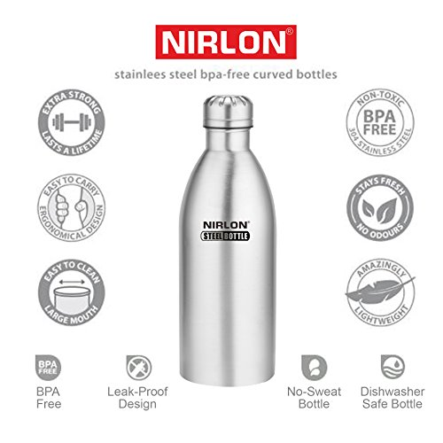f8162195a7a 33% OFF on Nirlon Stainless Steel Water Bottle Set