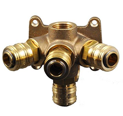 Druckluftverteiler mit 4 Kupplungen, Wanddose Druckluftdose Luftweiche 1/2