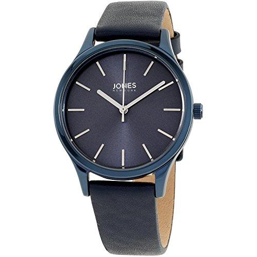 Jones New York Damen-Armbanduhr 33mm Armband Leder Blau Quarz 11759N528-007