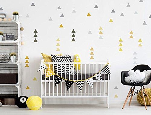 Sticker mural d'enfant autocollants de décoration Triangles en sommerlichen co