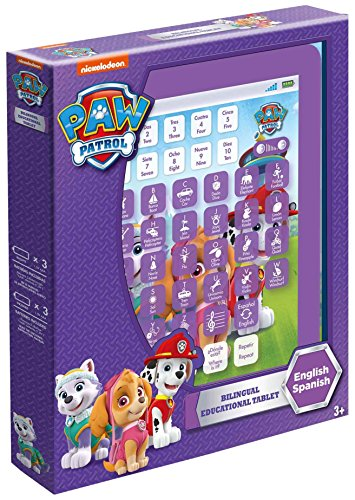 Ameniza By Ameurop- Patrulla Canina Tablet educativa con 6 Actividades, Color Morado (Global Ameurop SL PLAA)