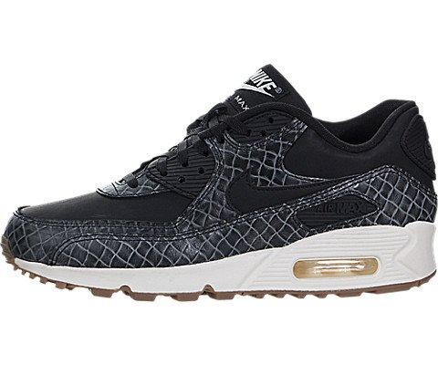 Nike Air Max 90 Premium, Damen Durchgängies Plateau Sandalen mit Keilabsatz , schwarz - schwarz / weiß - Größe: 36 EU