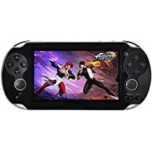 Handheld Video Game Console Free 100+ Games 4.3 Inch 4GB MP4 MP5 Players Classic Portable Retro Game Player Birthday Gift For Children - Black