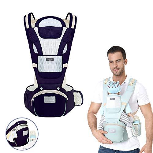 Twikik Ergonomische Babytrage Kindertrage Bauchtrage Atmungsaktiv Babytrage Jacke, Rückentrage, abnehmbar, verstellbar - für Neugeborene & Kleinkinder (30 kg)