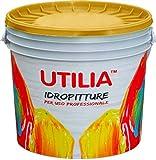 Idropittura Lavabile Traspirante per Interni antimuffa colore bianco confezione da 4 litri