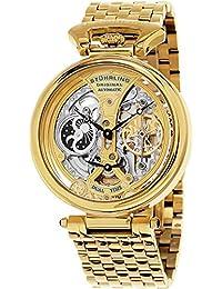 Stuhrling Original 797.02 Orologio da Polso, Display Analogico, Uomo, Cinturino Acciaio Inox, Oro