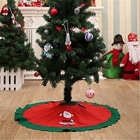 sunnymi Dekoration Weihnachtsbaum-Röcke 90cm Weihnachtsmann-Baum-Rock-Weihnachtsbaum-Christmas Tree Skirts Translucidus Römischer Vorhang (A, 90cm)