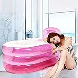GOTOTOP Aufblasbare Badewanne, 143 x 80 x 46 cm PVC Planschbecken für Familie, Outdoor Garten...