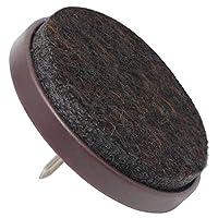 outlet store 63fbb 1393f Feltrini con chiodo, marrone o bianco diverse misure, marrone, Ø 35 mm