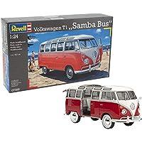 Revell- VW T1 Samba Bus Maqueta Coche, Multicolor (07399) , color/modelo surtido