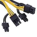 Richer-R PCI Express Adapterkabel, 6-polig Weiblich auf 2 x 6+2-polig/2-Port 6-polig Stecker PCI Express Stromversorgung Kabel,Grafikkarten-Stromadapter PCI-E Stromkabel
