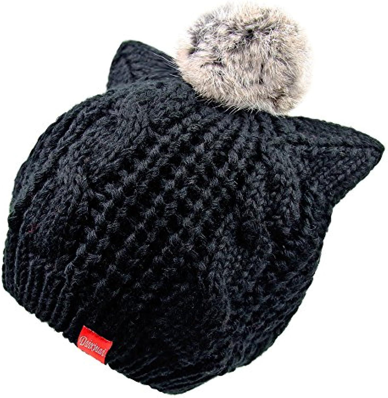 NMDNNJ Signora Berretti Inverno Caldo Spesso Elastico Maglia Cappello  Elastico Spesso Neve Berretto Parent d0e24b Huixin ... 99dcc236a7f7
