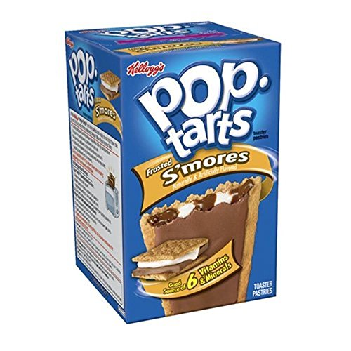 Kelloggs Pop-Tarts Blueberry Cherry Raspberry Chocolat Smore Cookies and Creme Cinamon Rolls Chip Confetti Cupcake Brown Sugar Fugde Sunday Grape Strawberry (Smores Frosted)