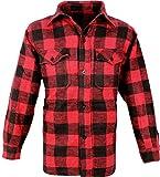Outdoor Holzfäller Hemd Woodcutter Rot-Schwarz 3XL