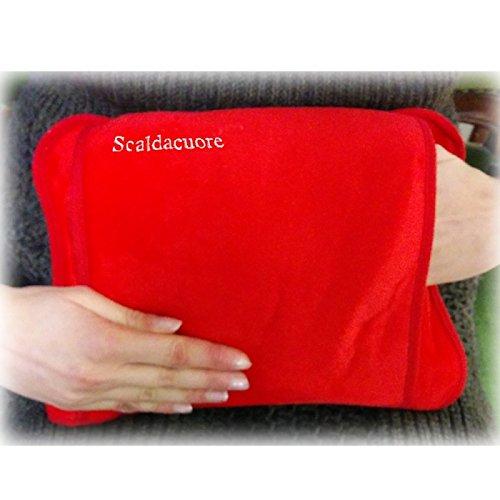 Scaldacuore borsa acqua calda elettrica luxury rosso