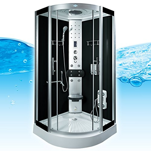 AcquaVapore DTP8058-5302 Dusche Dampfdusche Duschtempel Duschkabine 90x90 XL, EasyClean Versiegelung der Scheiben:2K Scheiben Versiegelung +89.-EUR