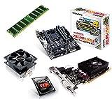 One PC Aufrüstkit | AMD FX-Series Bulldozer FX-4300, 4x 3.80GHz | montiertes Aufrüstset | Mainboard: Gigabyte GA-78LMT-USB3 | 4 GB RAM (1 x 4096 MB DDR3 Speicher 1600 MHz) | CPU Mainboard Bundle | Grafik: 2048 MB NVIDIA GeForce GT 610, DVI, HDMI | komplett fertig montiert!