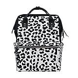 COOSUN Schwarzweiß-Leopard-Muster Nappy Wickeltasche Windel Rucksacks mit Insulated Taschen Stroller Straps, großen Kapazitäts-Multi-Funktions-stilvoller Windel-Tasche für Mama Dad Außen Groß mehrfa