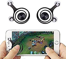 Zwing Mobile Joystick Controller For Smartphones And Tablet (Black)-Pack Of 2, Touch Screen Game Controller