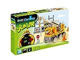 Revell Control Junior RC Car Kranwagen - ferngesteuertes Baufahrzeug mit 27 MHz Fernsteuerung, kindgerechte Gestaltung, ab 3, zum Bauen und Spielen, mit Spielfigur, LED-Blinklichtern - 23002
