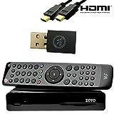 VU+ ZERO schwarz 1x DVB-S2 inkl. 300Mbit Wlan-Stick von NA-Digital Linux Full HD Satelliten-Receiver (Sat, 1080p, HDMI) schwarz …