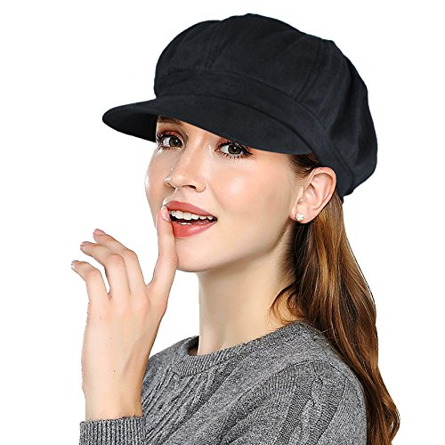 EINSKEY Ballonmütze Damen Baseball Cap Schwarz Grau New Era Schirmmütze Barett Mütze mit Visor